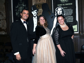 Fabian Qamar, Elizabeth Novacek and Mitzi Keel