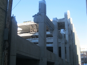 Parking Garage demolition.