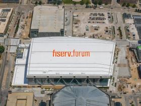 Fiserv Forum Rooftop Sign