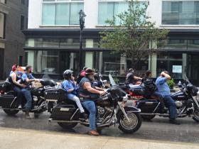 Harley Riders at Labor Day Parade 2018
