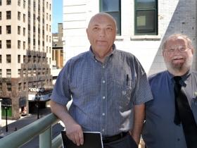 Myron Heaton and John Letterman