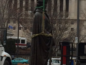 George Washington Statue Re-installation
