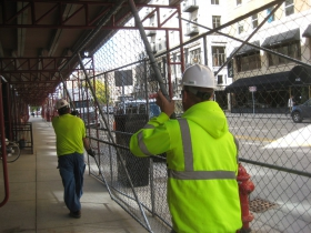 Scaffolding at the Posner Building.