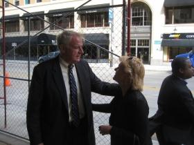 Mayor Tom Barret and Beth Weirick.