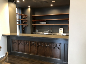 Bar Made From Former Pews