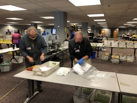 Patrick Curley and Dave Misky Sort Processed Ballots