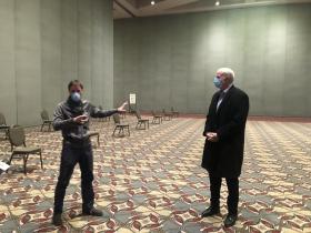 Nick Tomaro and Mayor Tom Barrett