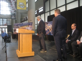 Michael Fascitelli heads to the mic.