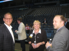 Greg Uhen, Beth Weirick, and Ashley Booth