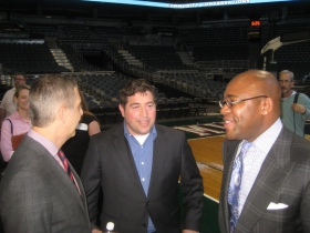 Peter Feigin [m] and Cory L. Nettles [r].