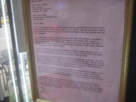 Letter from Bud Selig