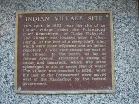 Indian village site marker