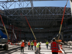 Inside the New Bucks Arena