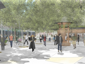 Vel R. Phillips Plaza Rendering