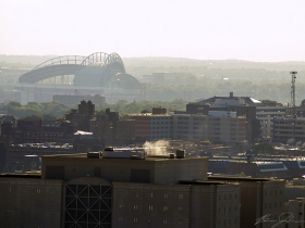 Miller Park is visible in the distance.