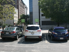 ZipCars along Wells St. in Westown