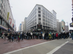 Posner Building during St. Patrick's Day Parade