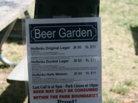 Beer Garden at Pere Marquette Park