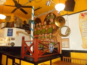 The stage at the Old German Beer Hall