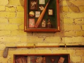 Vintage sports objects.