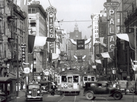 Wisconsin Ave. theaters in 1933. Courtesy Larry Widen collection, photo by Albert Kuhli.