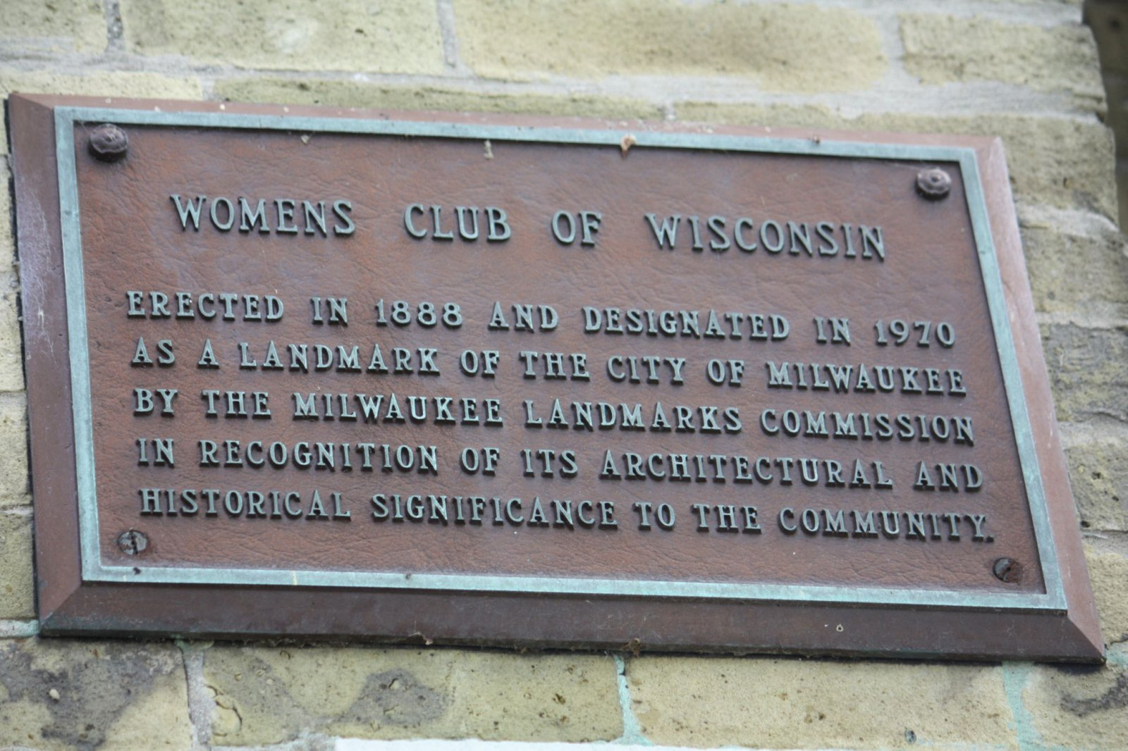 Womans Club of Wisconsin marker