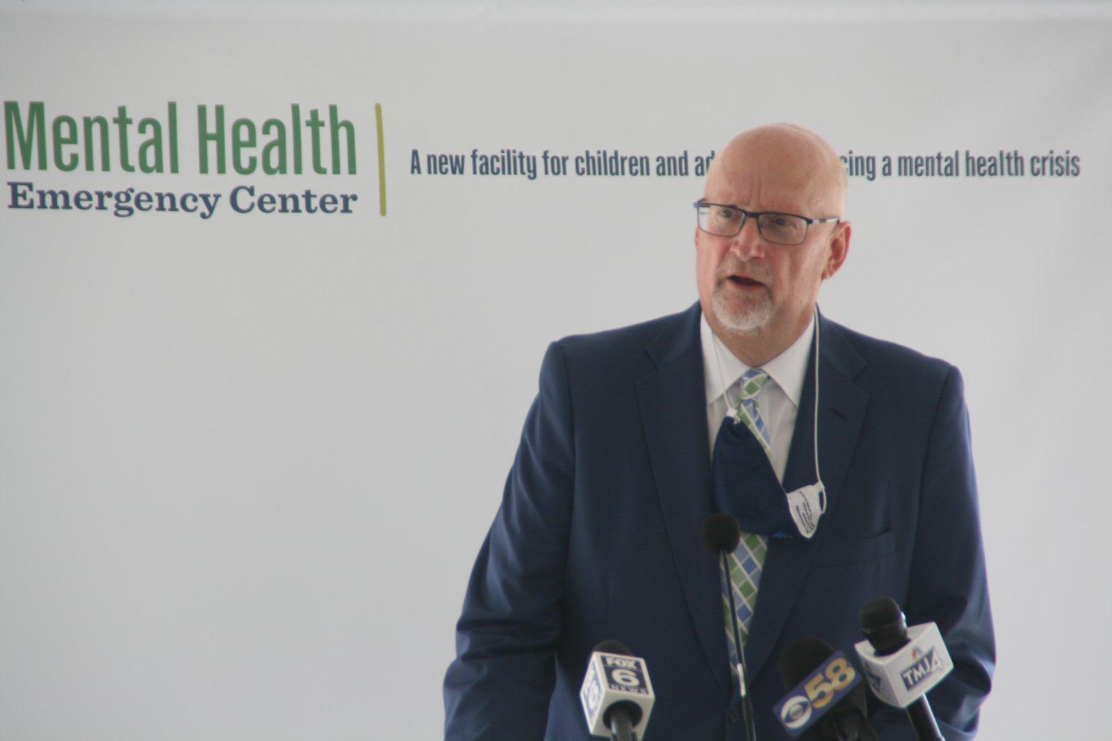 Bob Duncan at Milwaukee County Mental Health Emergency Center Ceremony