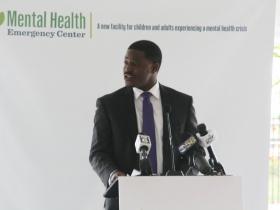 David Crowley at Milwaukee County Mental Health Emergency Center Ceremony
