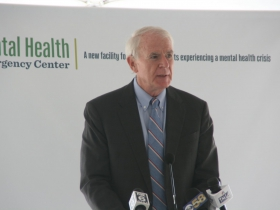Tom Barrett at Milwaukee County Mental Health Emergency Center Ceremony