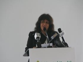 Maria Perez at Milwaukee County Mental Health Emergency Center Ceremony
