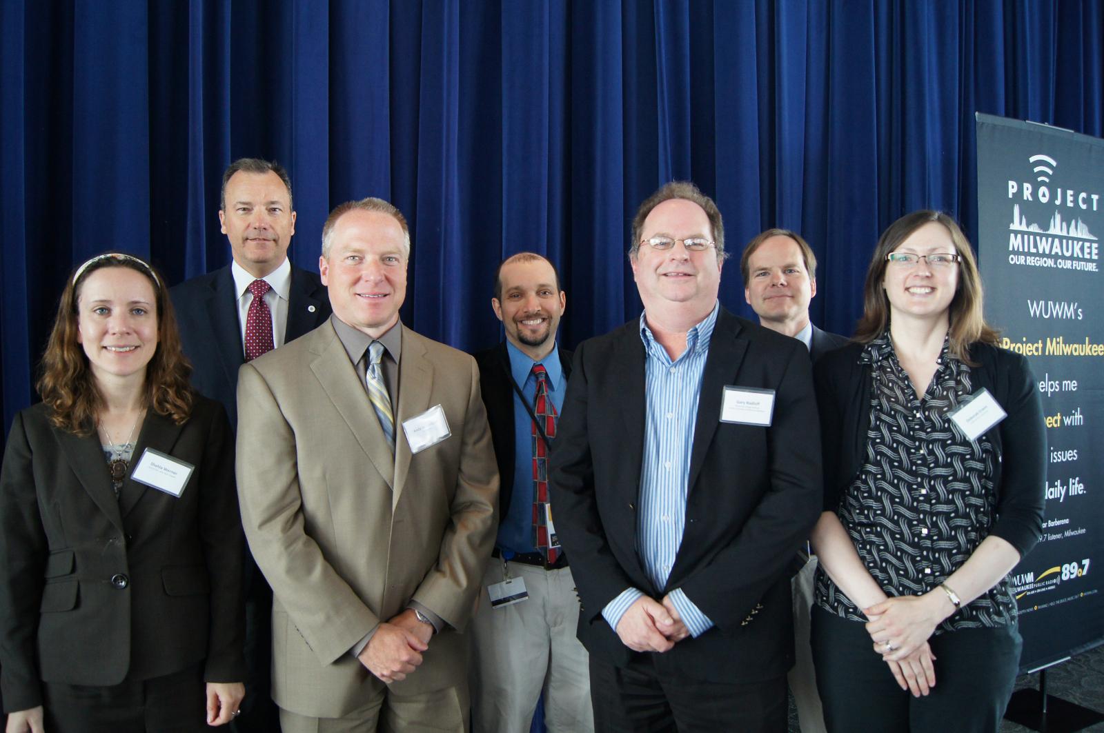 WUWM\'s Project Milwaukee: Power Switch Forum panelists.