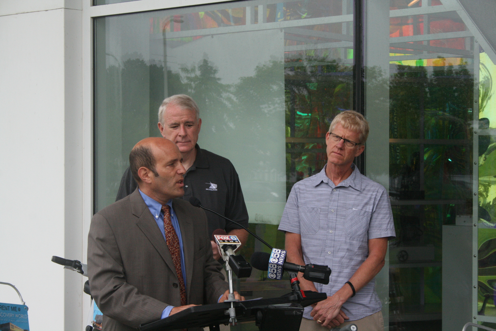 Bruce Keyes explains the benefits of bike-sharing.