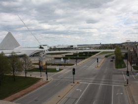 Art Museum and Discovery World with Lakeshore State Park and Summerfest Grounds in the distance