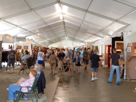 Booths at the Lakefront Festival of the Arts