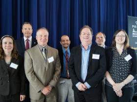 WUWM's Project Milwaukee: Power Switch Forum panelists. Photo by Cynthia Akey,  WUWM 89.7 FM.