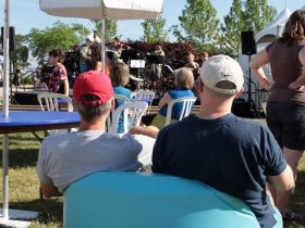 The Children's Stage featured the Ronald Reagan HS Jazz Band