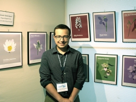 """Kaivahn Sarkaratpour, a graphic designer in the """"Under the Wings"""" mentoring program, showcased a floral series dedicated to his late mentor, Eileen Potts-Dawson"""