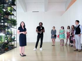 Dr. Marcelle Polednik, the Donna and Donald Baumgartner Director, Milwaukee Art Museum, introduces Artist Rashid Johnso