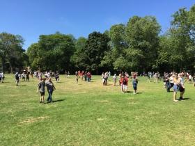 Pokémon Go players in Lake Park