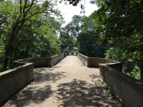 Lake Park Arch Bridge Over Ravine Road