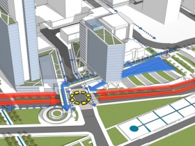 Redesigned Michigan and Lincoln Memorial Intersection