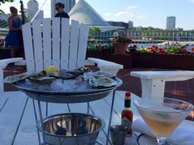 Oysters, Martini and music