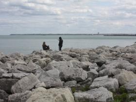 Rocks at McKinley Beach