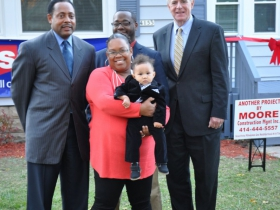 The Liddell-Brooks family is moving in to a new home.