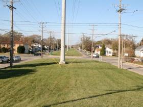 20th Street Trail Corridor at W. Hampton Ave. - Looking North