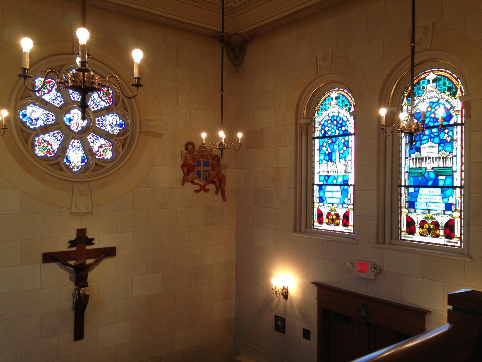 Basilica lobby area.