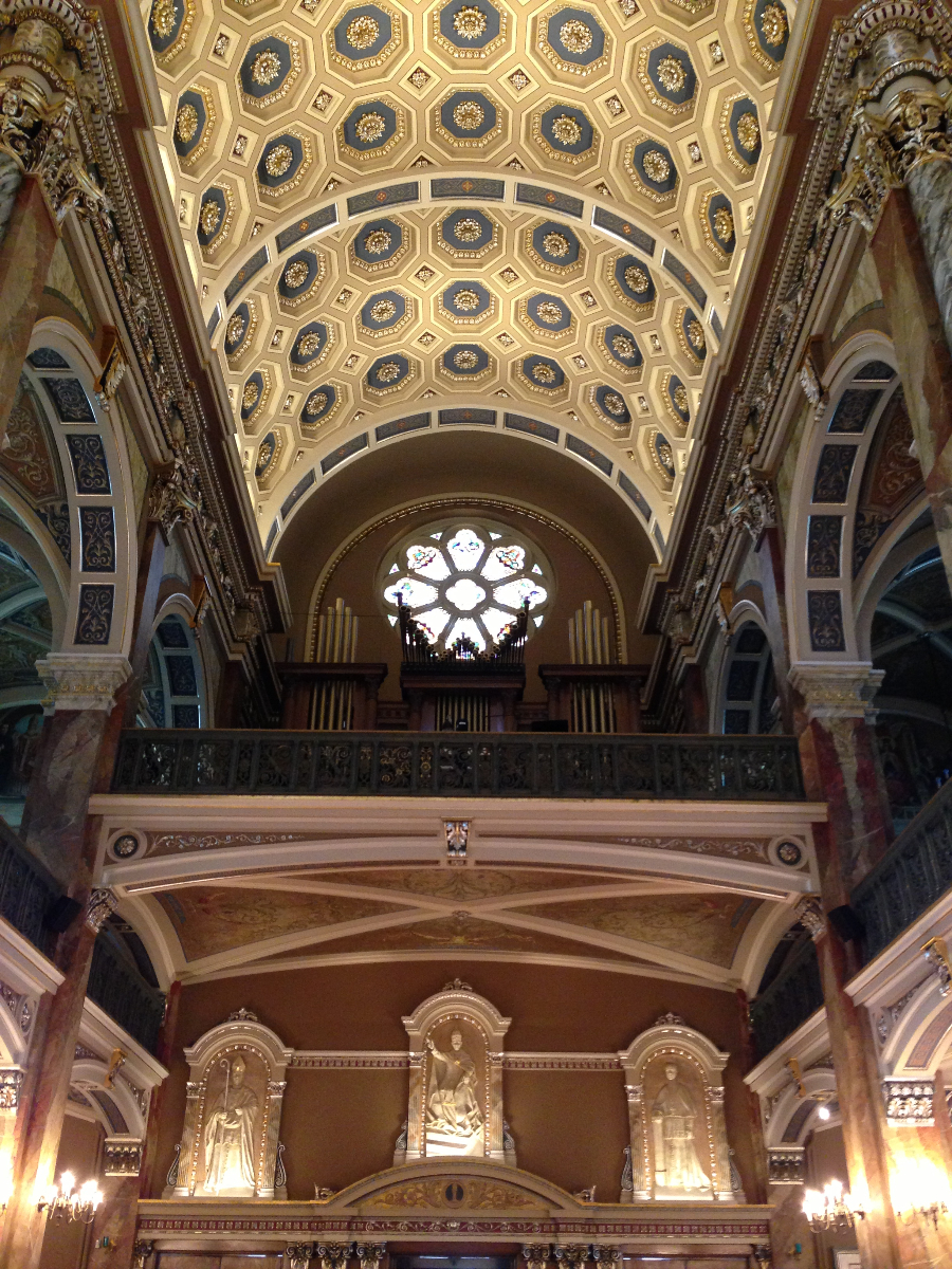 Amazing detail in the Basilica.