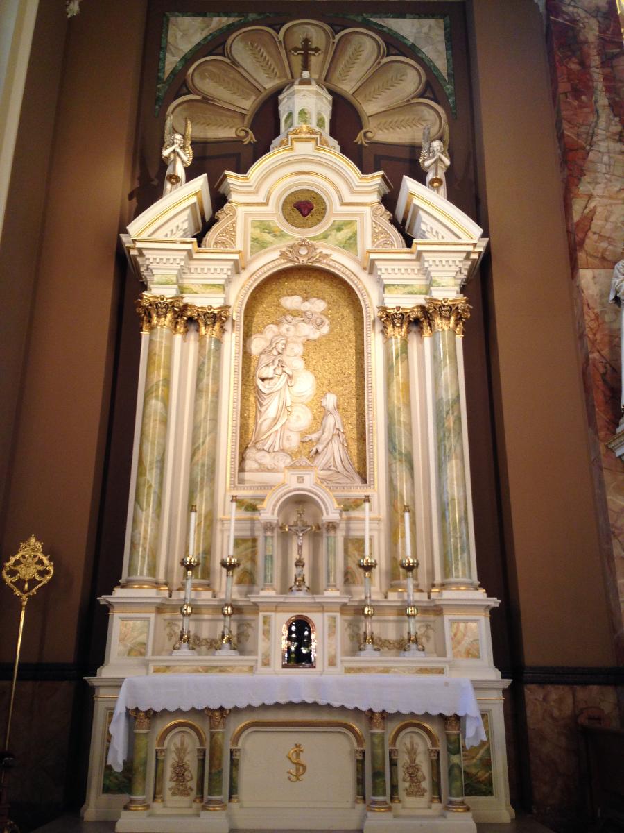 Seen inside the Basilica of St. Josaphat.