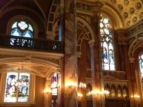 A view inside the Basilica of St. Josaphat.