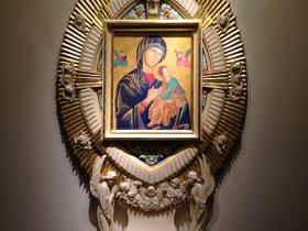 Seen inside the Basilica.